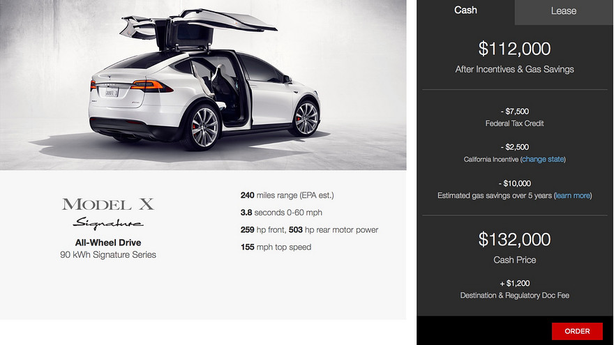 Tesla S Model X Signature With 762 Hp Starts At 132 000