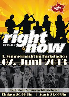 Right Now Die Show- und Partyband, Sommernacht Parkstadion