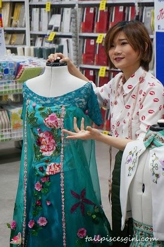 Arisa Chow explains her dress design inspired by Elsa of Frozen