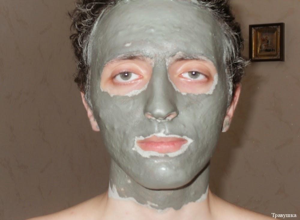маска из голубой глины от прыщей