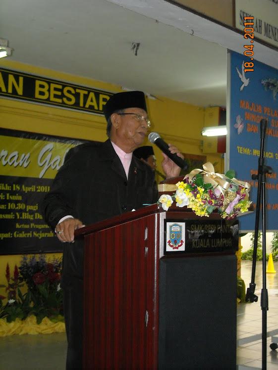 Datuk Aziz ketika menyampaikan kata-kata motivasi