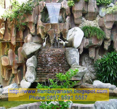 Tukang Taman Surabaya konsep waterwall 3D
