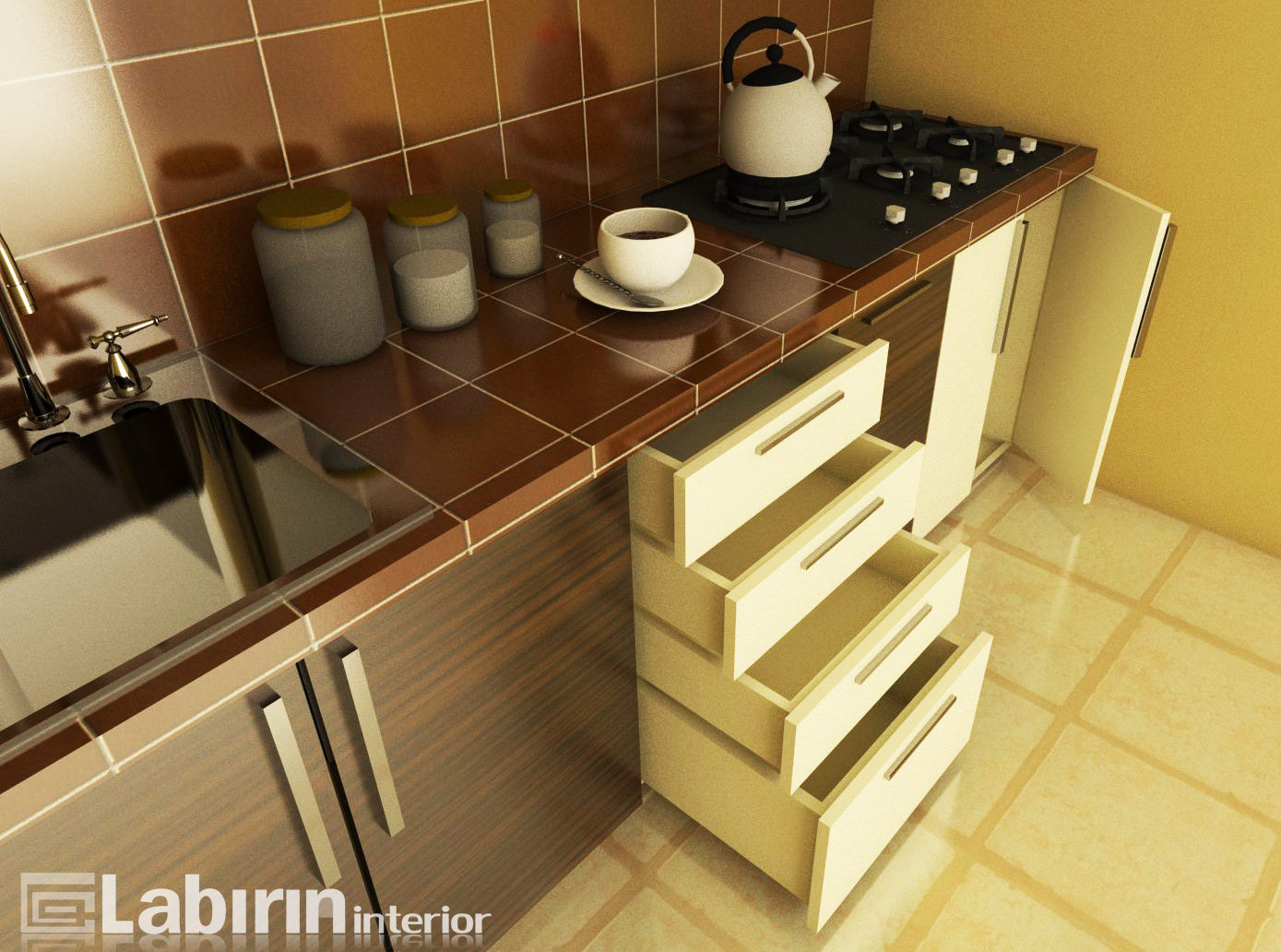 Kitchen set murah yang menawan kitchen set malang for Kitchen set yang bisa dipindah
