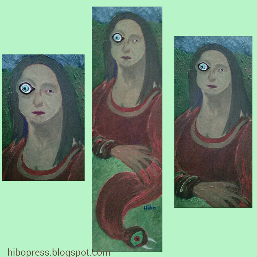 A painting entitled: The Other Face The artwork of the painter hibo .. for sale/لوحة فنية بعنوان :