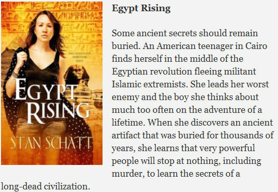 Cover Image and blurb for Egypt Rising by Stan Schatt