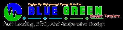 Blue Green Blogger Template V.2