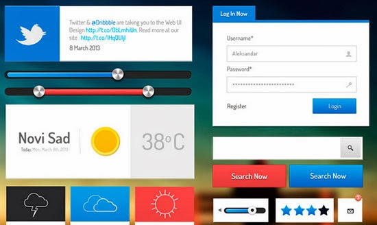 Web and App UI Kit PSD
