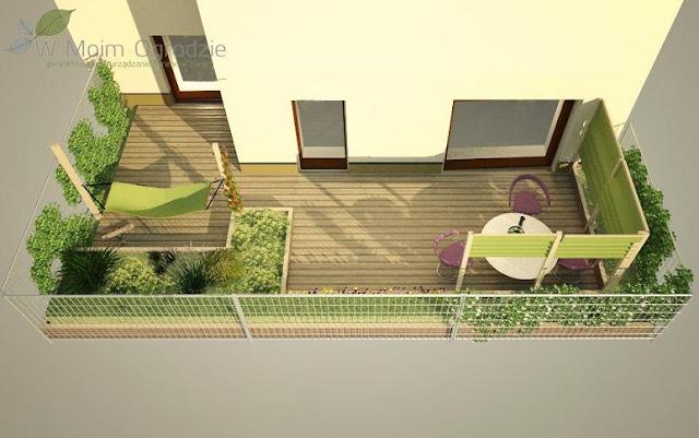 nowoczesne ogrody przy szeregowcach