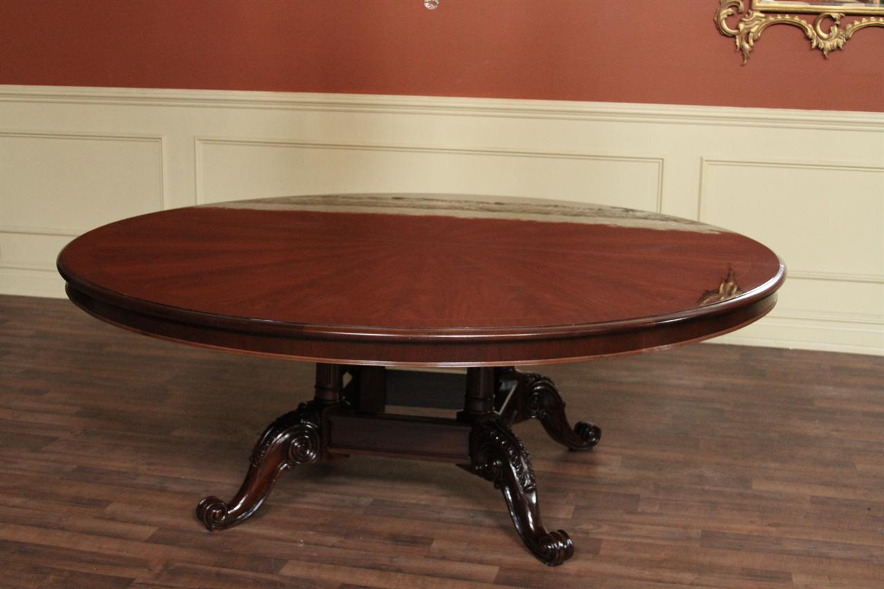 meja makan antik ukiran kayu mahoni