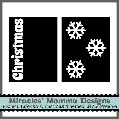 Free SVG Project Life Cards_Christmas