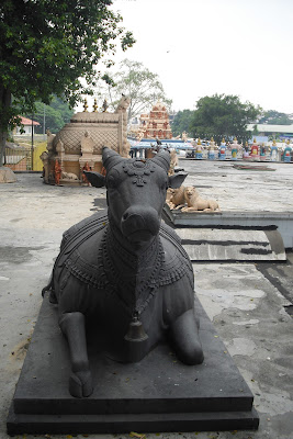 A statue of a seated 'sacred cow', taken in Kuala Lumpur, Malaysic