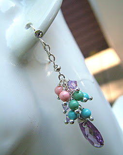 Purple Friends - Swarovski Infused Earrings