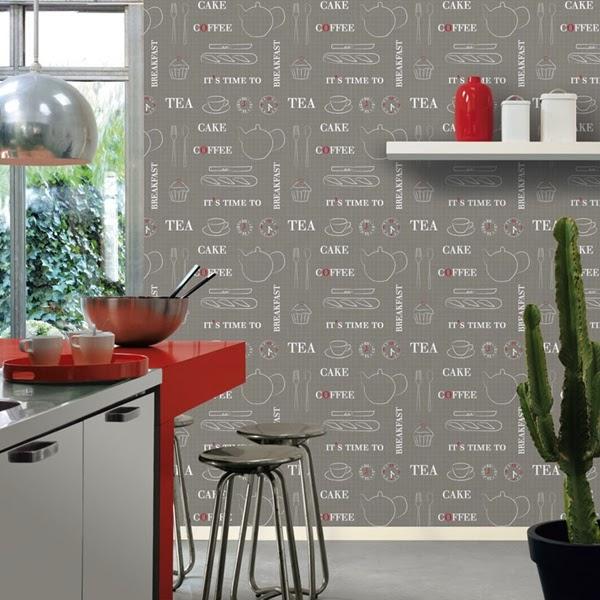 Marzua papel pintado para cocinas for Papel pintado de cocina