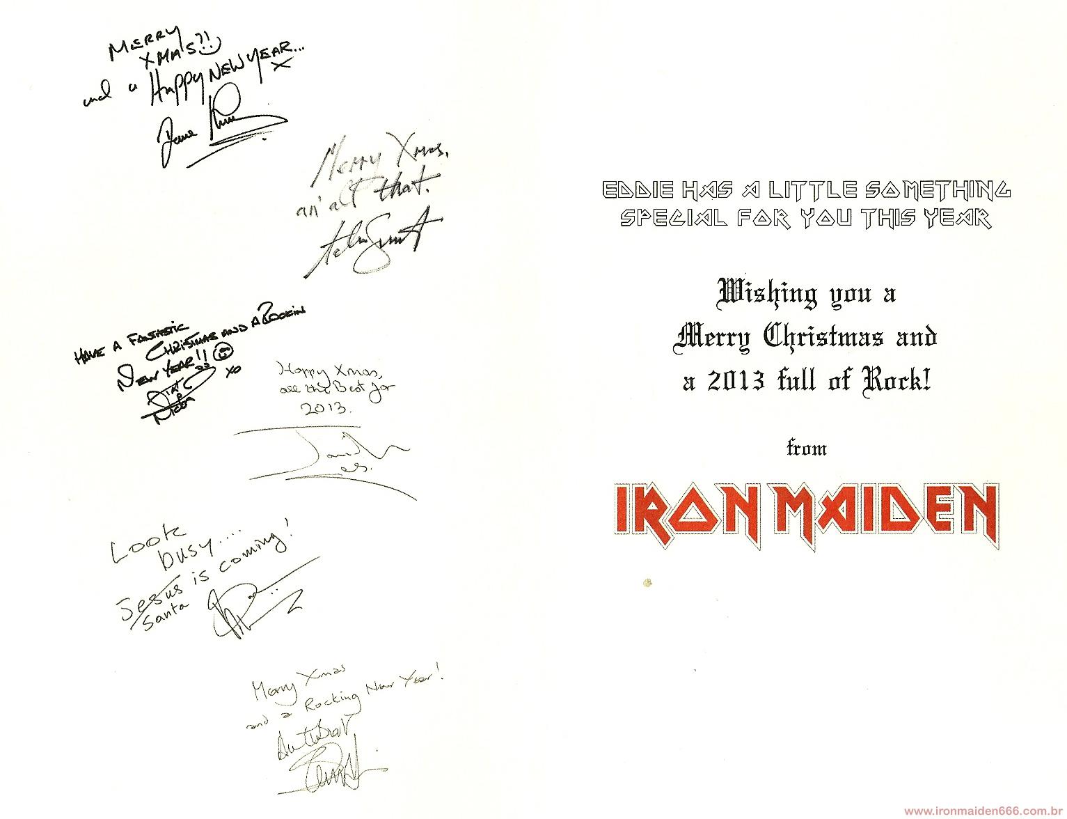 Feliz Natal! Iron Maiden Christmas Card 2012 ~ IRON MAIDEN 666 - BRASIL