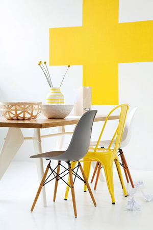 silla amarilla
