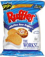 FATGUYFOODBLOG: Ruffles Loaded Bacon & Cheddar Potato Skins Chips
