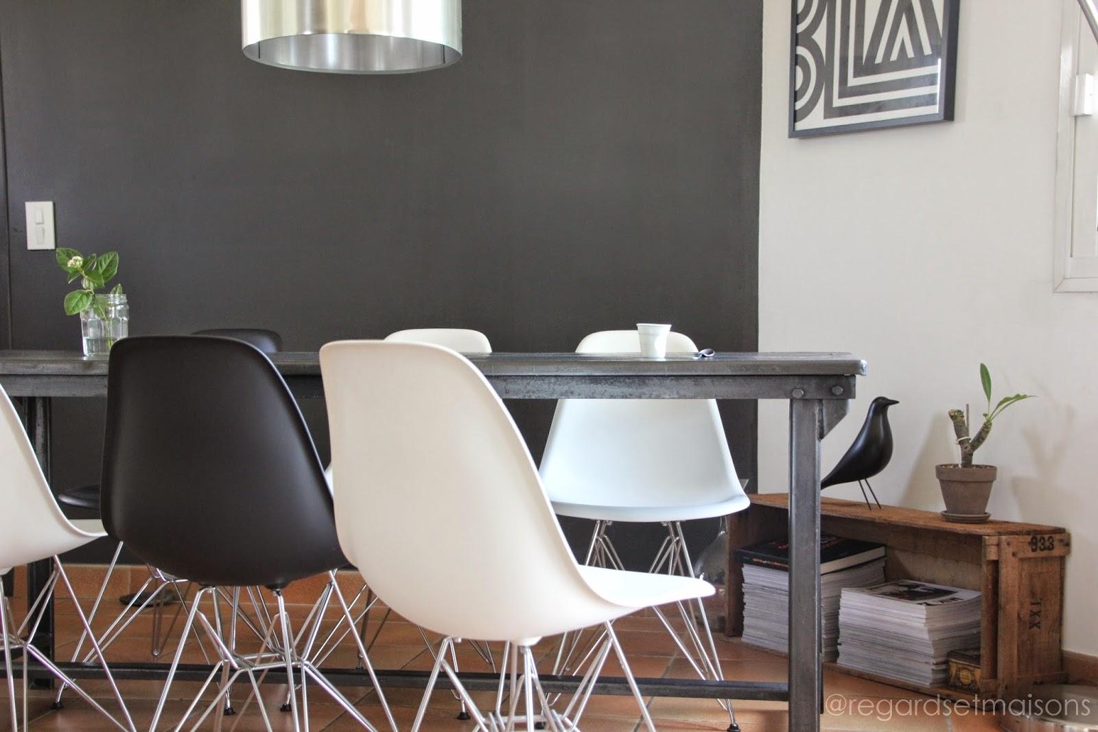 regardsetmaisons: ma nouvelle table industrielle avant/après - Chaise Eames Pas Cher