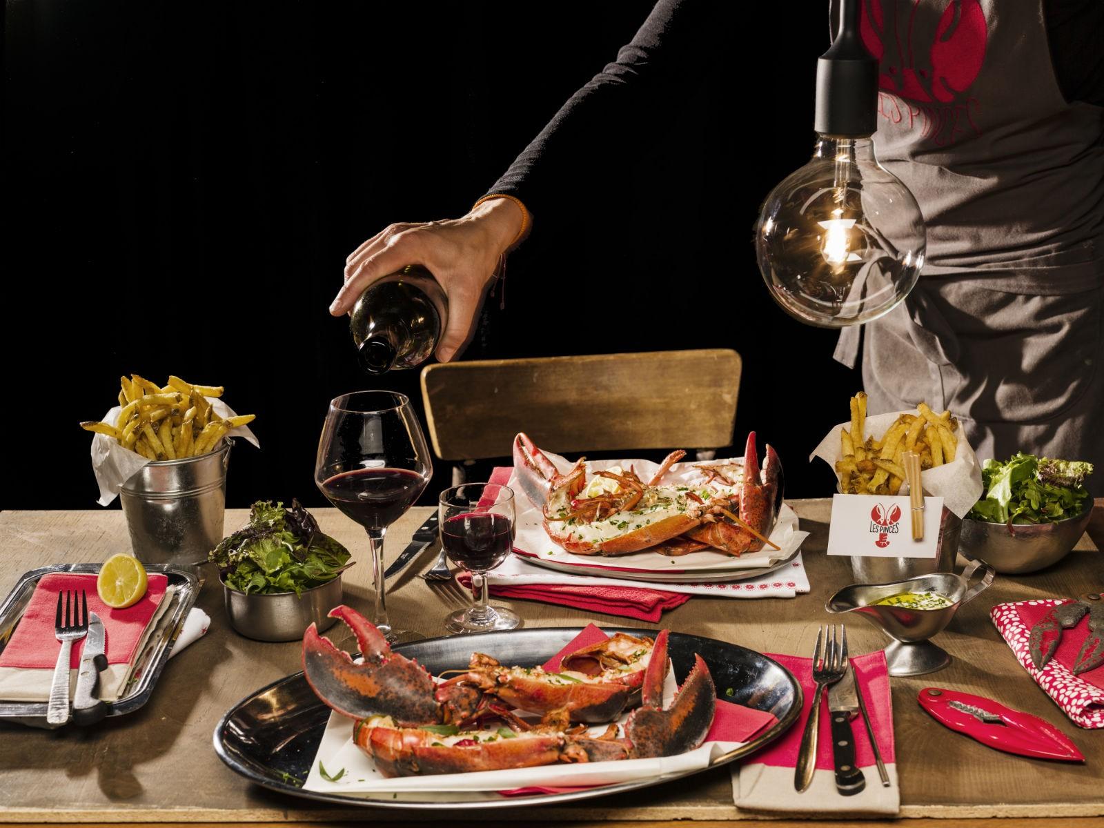brose nose paris afforable lobster at les pinces. Black Bedroom Furniture Sets. Home Design Ideas