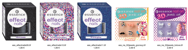 Essence Nail Art Effect Nails e 3D Jewels Set