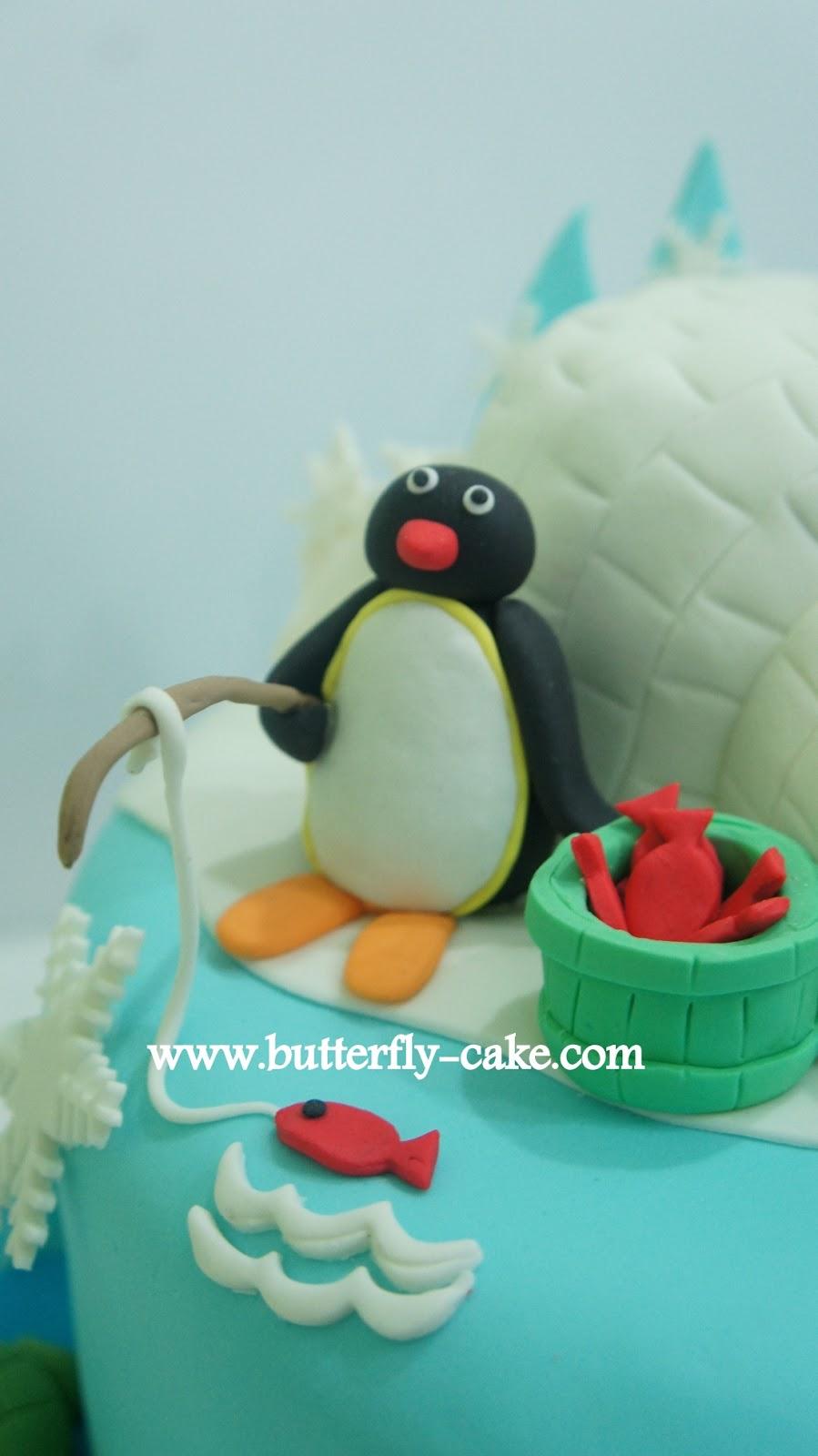 Butterfly Cake Pingu Cake For Kayla