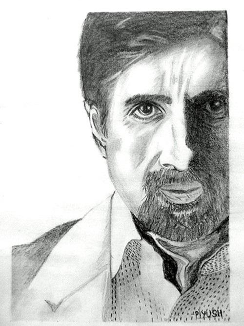 Amitabh Bachan pencil sketch