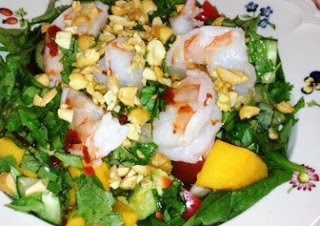 Thai Salad With Herbs And Shrimp