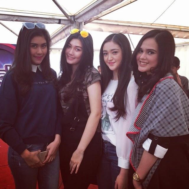 Foto Cut Meyriska dengan Ranty, Aura Nabilla, dan Syahnaz