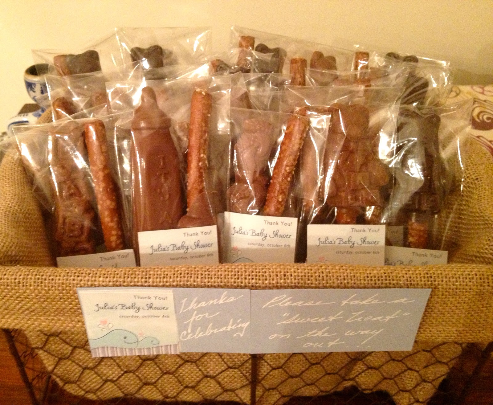 Hardly Housewives Chocolate Pretzel Favors by Rosie