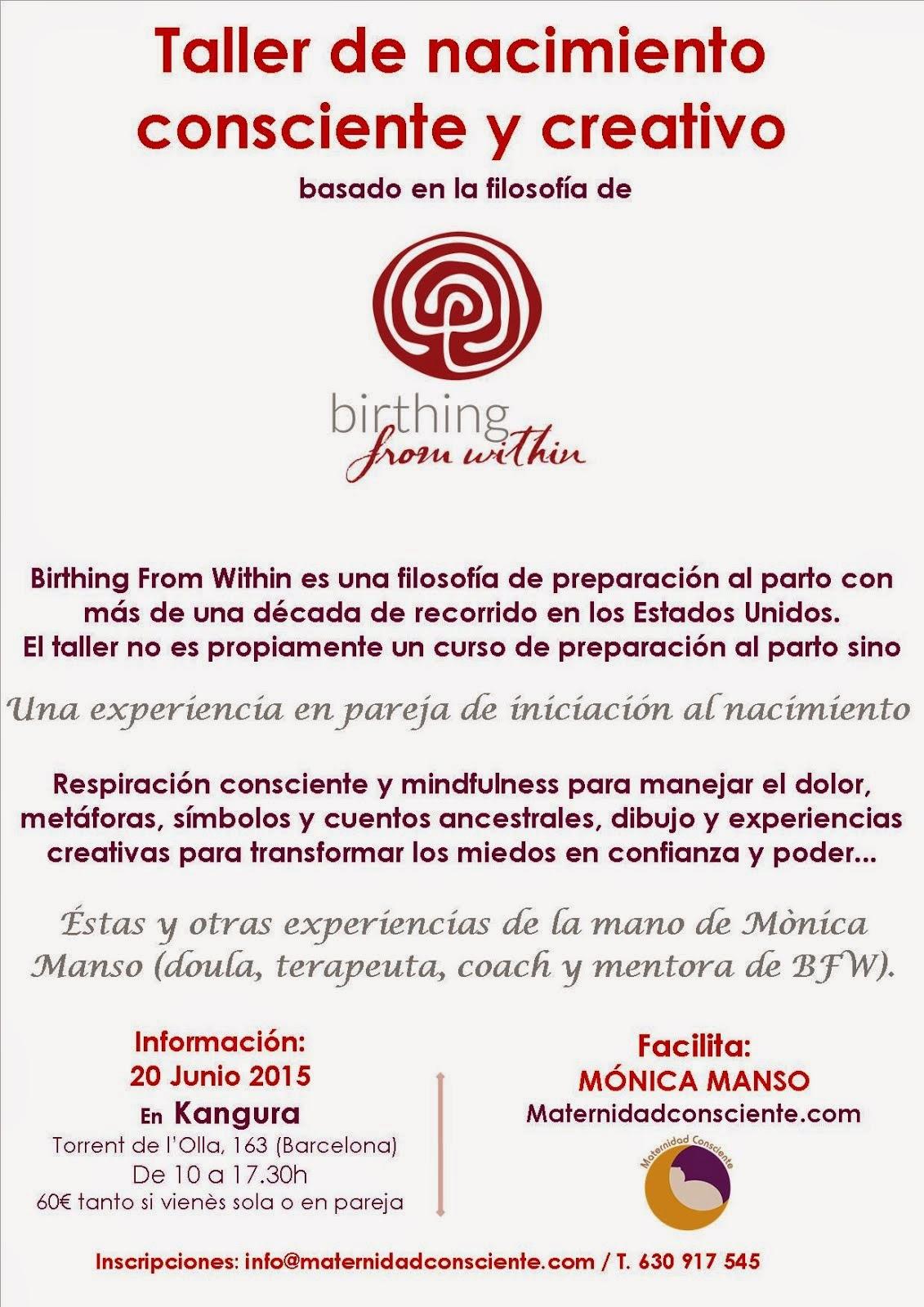 Taller de nacimiento consciente y creativo · 20/6/2015 (Barcelona)