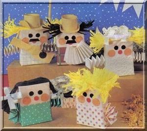 Decoração de festa junina reciclada - fantoches