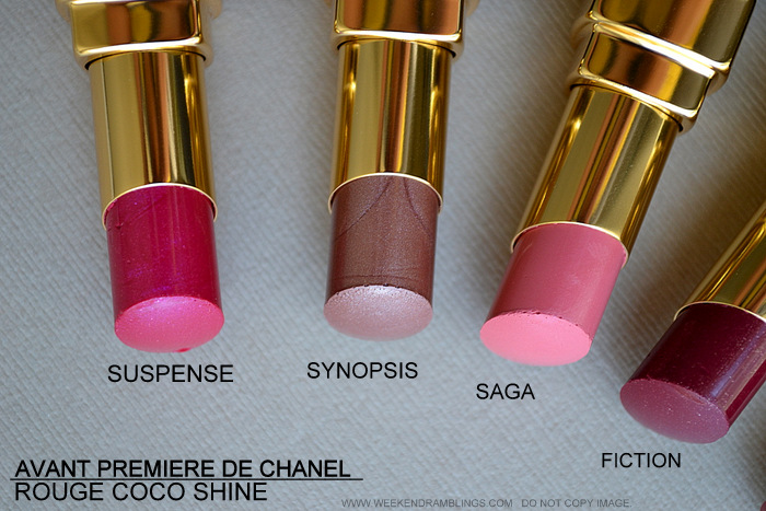 Avant-Premiere de Chanel Makeup Collection Spring Summer 2013 Collection -Beauty Blog Photos Swatches Rouge Coco Shine Lipsticks Suspense Synopsis Saga Fiction