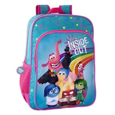 MOCHILAS - DISNEY Inside Out : Del revés  Mochila adaptable a Carro | Azul  Producto Oficial de la nueva Película de Disney Pixar 2015  Material Escolar - Colegio | Comprar en Amazon España