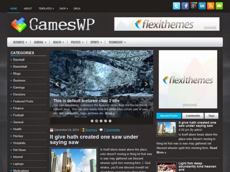 GamesWP - Free Wordpress Theme