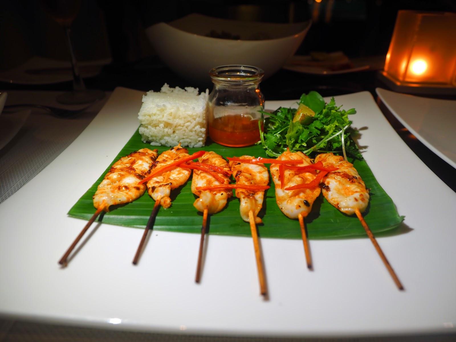 Grilled squid Fresh Restaurant Fusion Maia Da Nang Vietnam