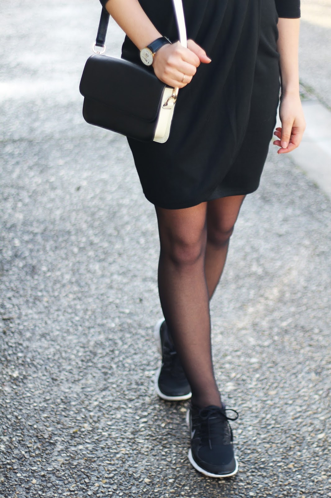 sac pochette bicolore noir blanc