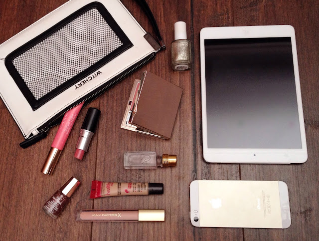 witchery clutch and beauty products