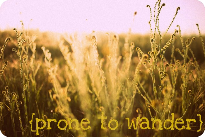 {prone to wander}
