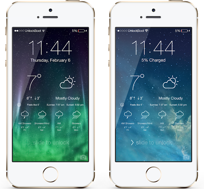 IOS 7 Lockscreen weather