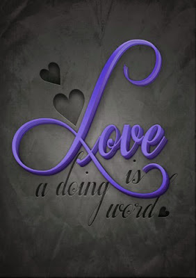 love is a doing word
