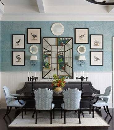 C b i d home decor and design no more boring blank walls for Dining room mirror decorating ideas