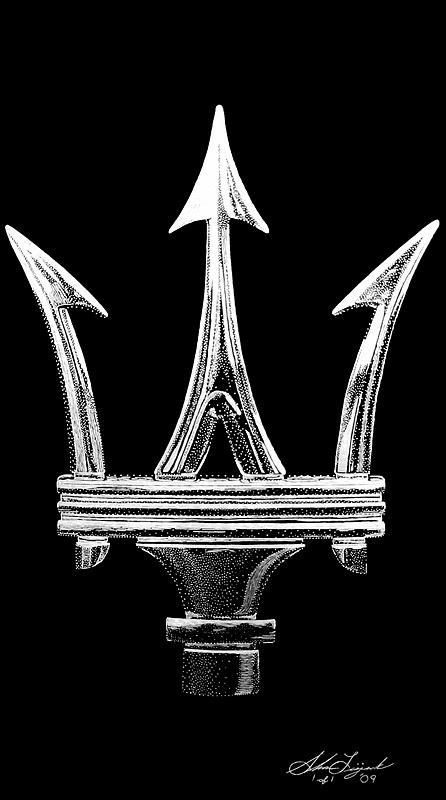 Maserati Trident Logo 28 Images Exotic Engravings Maserati