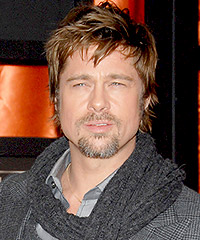 Brad Pitt straight short Hairstyles - Male Celebrity Hairstyle Haircut Ideas