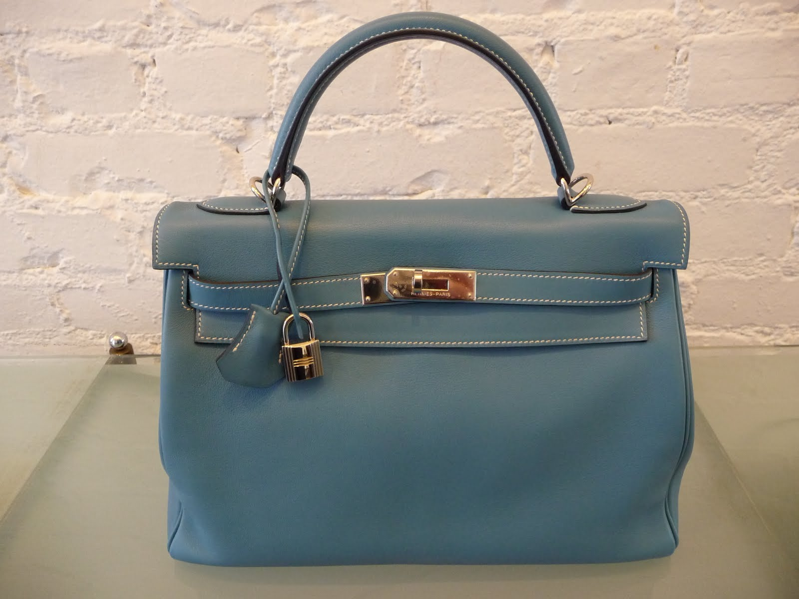 hermes garden party ecru (off white)/atoll blue