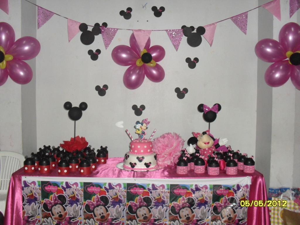 Decoracion Minnie Fucsia ~ Babu Artesanias Tem?tica Minnie Mouse