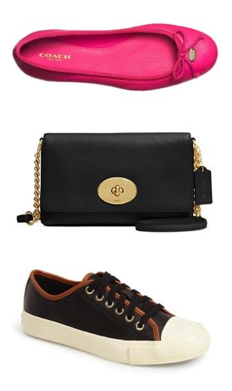 Coach Pink Ballet Flats and Crosstown Crossbody Bag