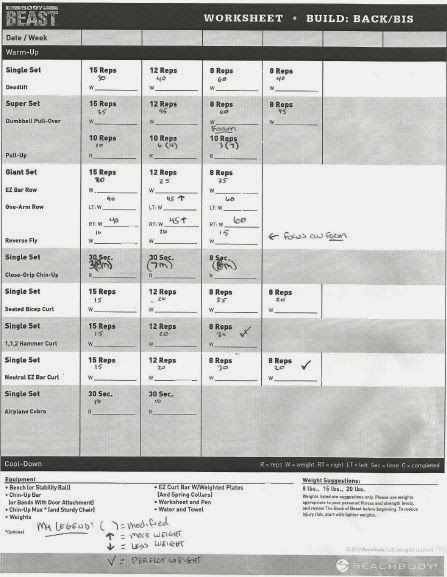 Coach Harrington: Workout Sheets