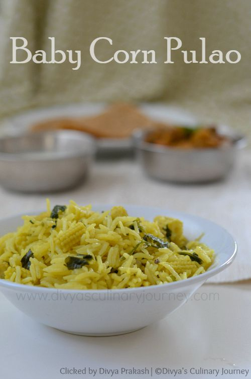 Pulao with baby corn