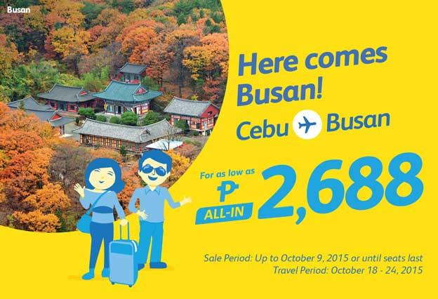 Cebu Pacific Promo Ticket Cebu to Busan 2015