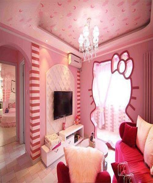 Idee d co chambre fille d coration enfant hello kitty for Decoration chambre fille 3 ans