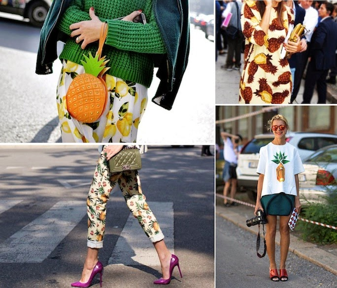 pineapple print - fashion - street style